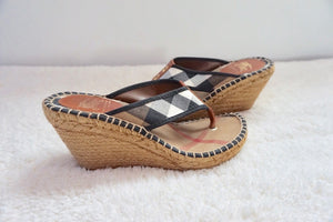 Burberry Check Wedge Sandals