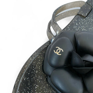 Chanel Camellia Jelly Glitter Sandals (36)