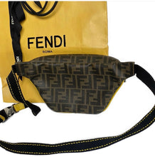 Fendi Belt Bag FF Print with Yellow Piping