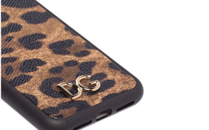 Dolce & Gabbana Leopard Print Phone Case iPhone XR