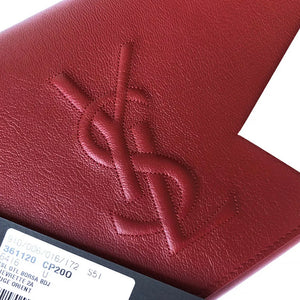 YSL Calfskin Belle De Jour Large Leather Clutch