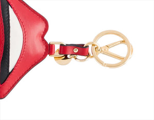 Prada Lips Leather Keychain