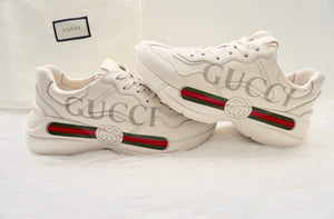 Gucci Rhyton Logo Leather Sneaker - Mens