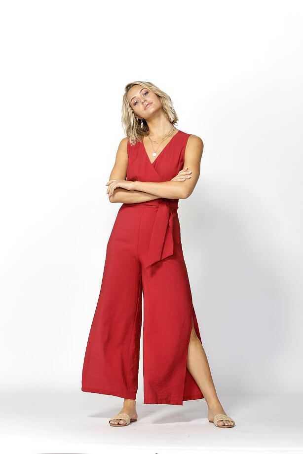 Seven Seas Jumpsuit Ultra Red