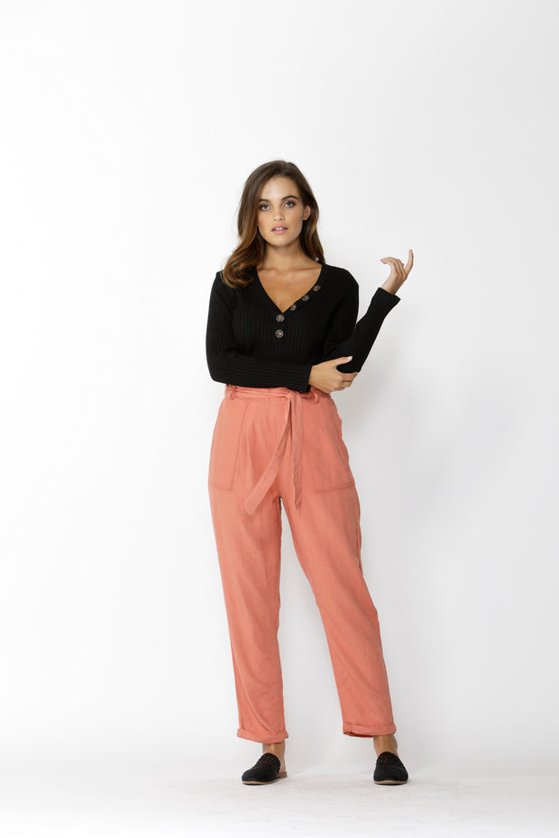 Into The Wild Belted Pant Amber