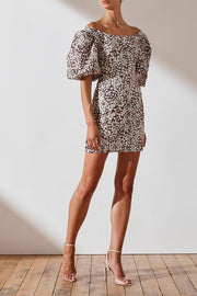 OTS Linen Fitted Mini Dress