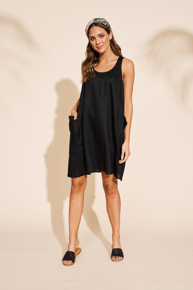 Serengeti Tank Dress Black