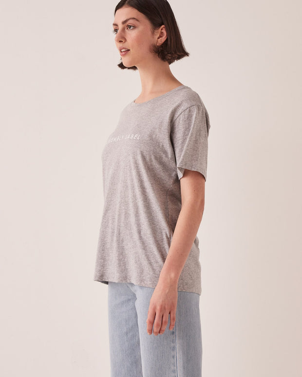 Logo Cotton Crew Tee Marle Grey