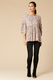 Margaux Tunic Top - Vanilla Speck