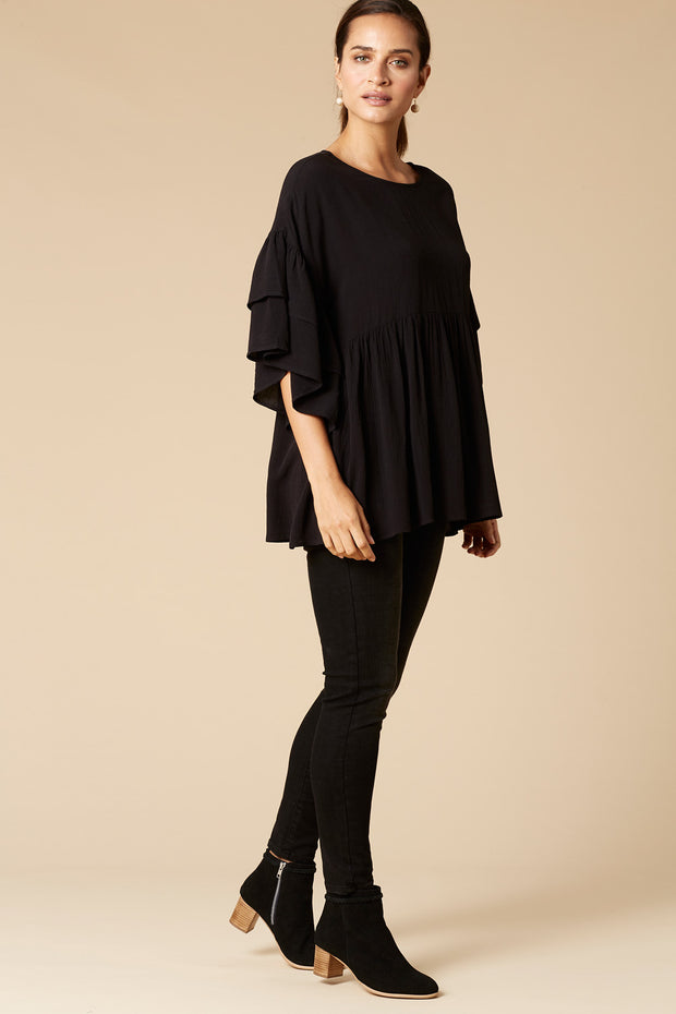 Margaux Tunic Top - Onyx