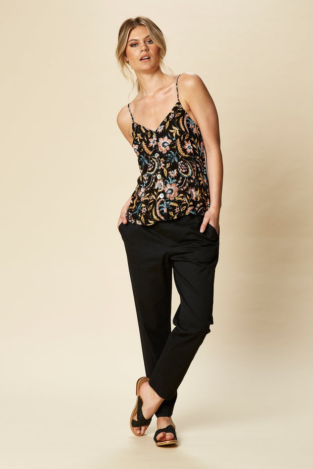 Siela Tank Black Botanical