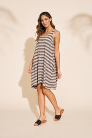 Serengeti Tank Dress Black Stripe