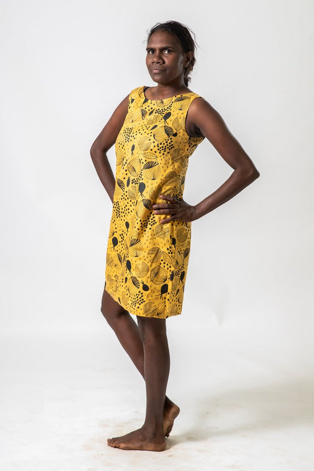 Shift Dress Mustard Yalbun