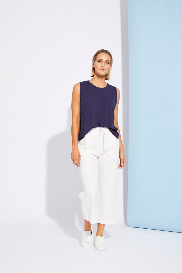 Paloma Crop Pant White