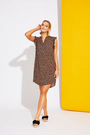 Riviera Dress Black Posy