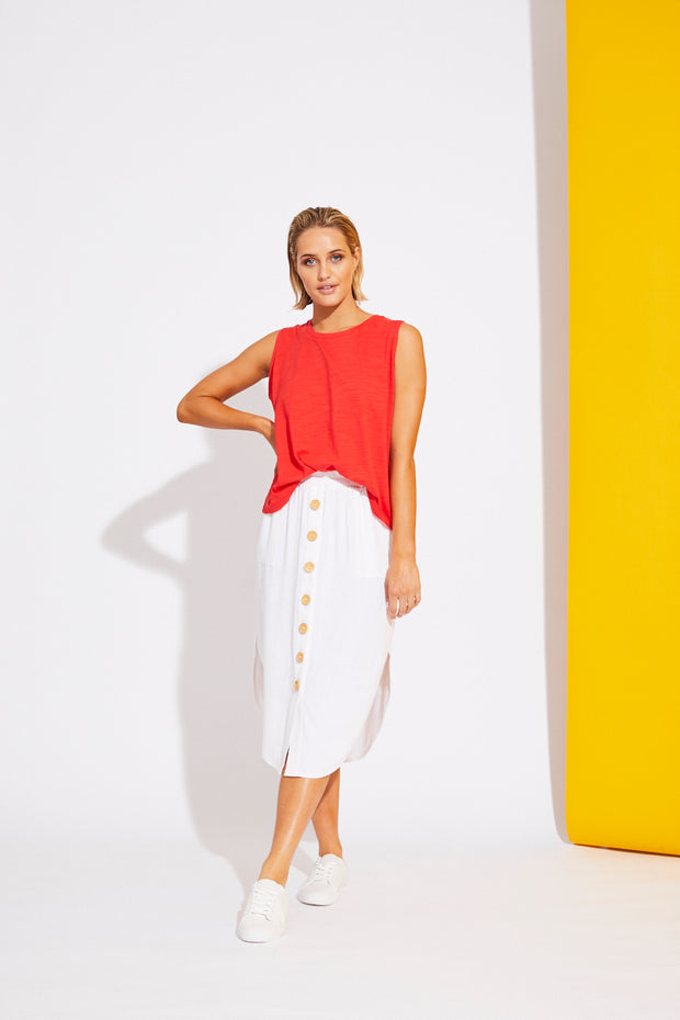 La Barre Skirt White