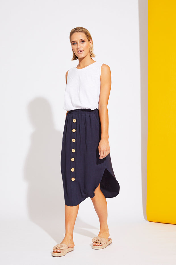 La Barre Skirt Navy Blue
