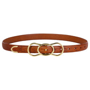 The Sora Belt - Cognac Lizard