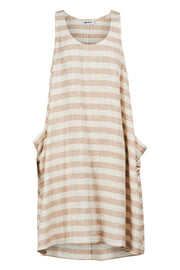 Serengeti Tank Dress Salt Stripe