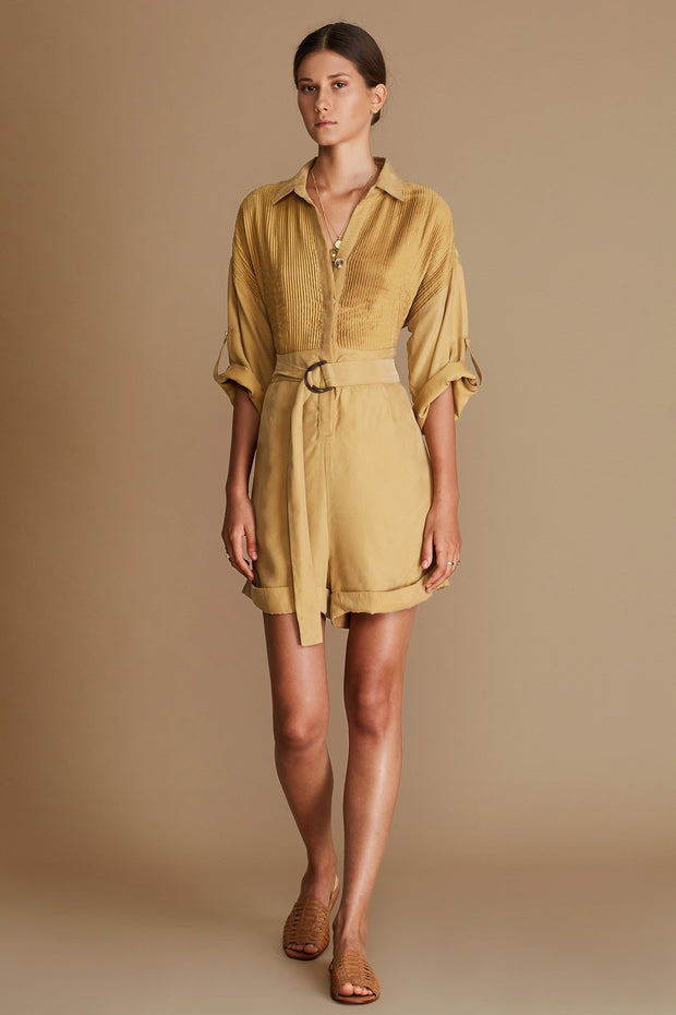 Marcia Playsuit - Honey