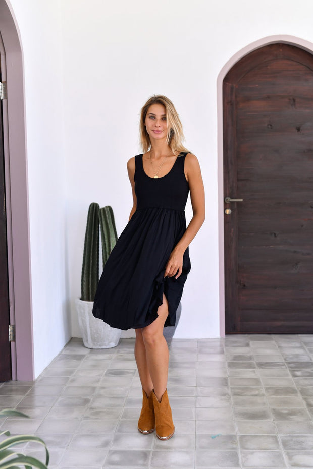 Goddess Mini Dress Black