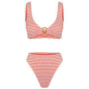 Cheeky G Brief Coral Stripe