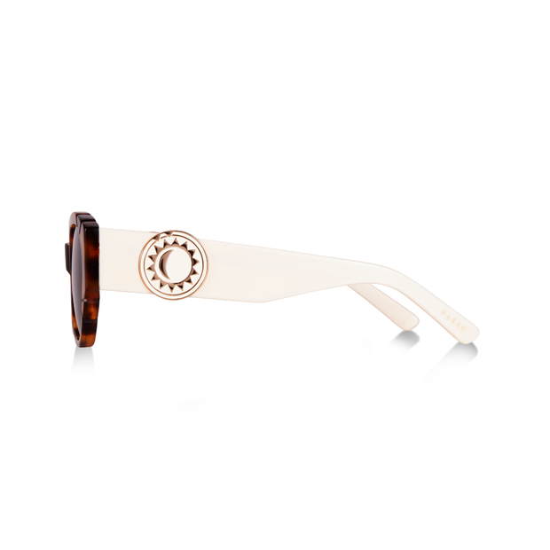 Diamonds & Pearls Medallion - Light Tortoise/Ivory