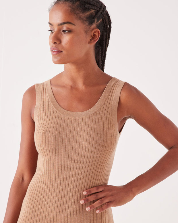 Ella Knit Tank Dress Taupe