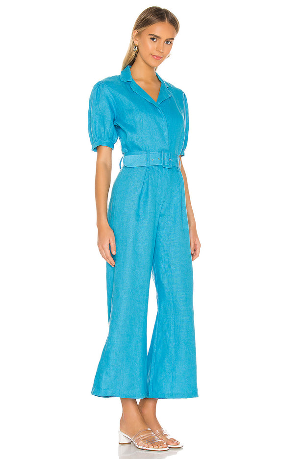 Frederikke Boilersuit Plain Blue Topaz