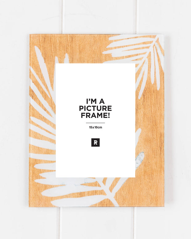 Glass Photo Frame - Neutral Palms Fronds - 18x23