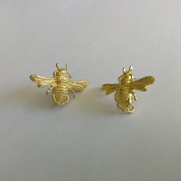Bees Knees Earrings Gold
