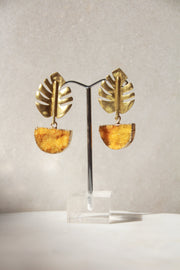 Arabian Palms Earrings Yellow