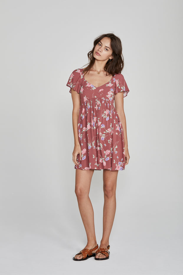 Rosa Belle Mini Dress Blush