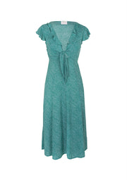 Diamond Rumba Midi Dress Green
