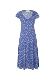Mae Devine Midi Dress Blue