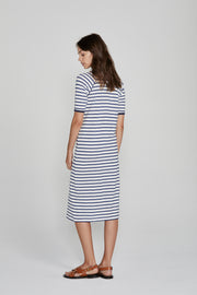 Sails Midi Dress Navy