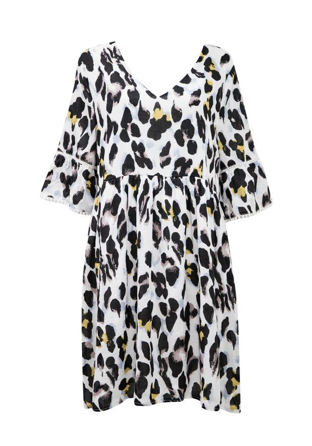 Boho Maybell Leopard Dress