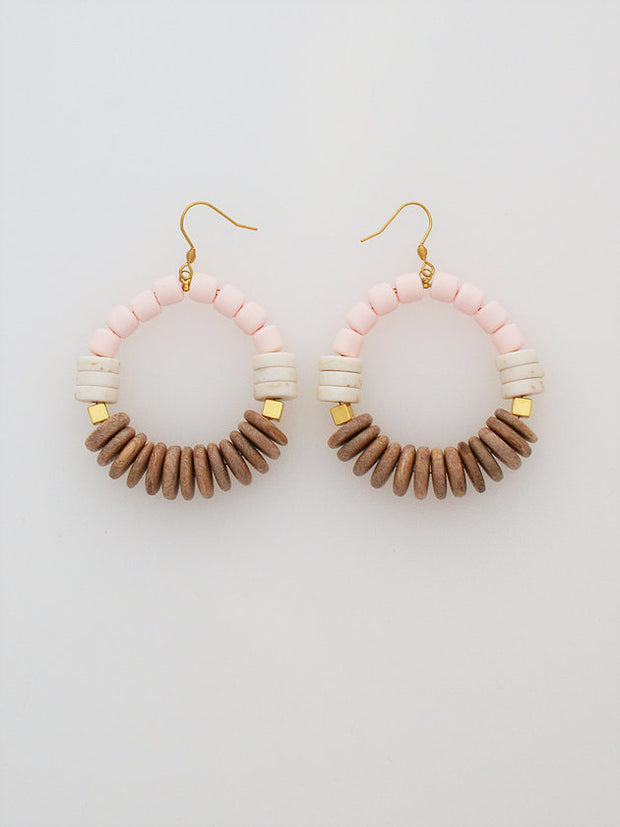 Meander Earrings Buff