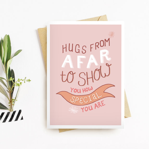 Hugs From Afar Card