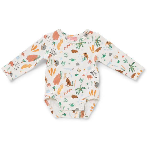 Outback Dreamers Gift Pack - Long Sleeve Bodysuit & Baby Hat