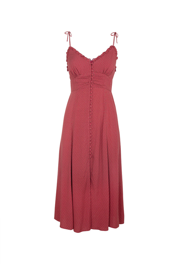 Pippi Juliette Midi Dress Rust