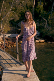 Gemima Isla Midi Dress Purple