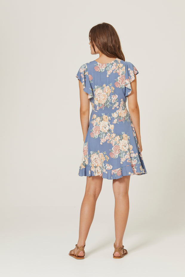 Cottage Sunday Mini Dress Blue