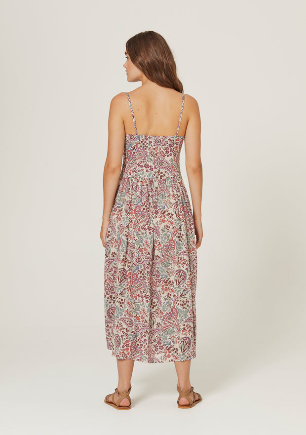 Paisley Staple Midi Dress Blush