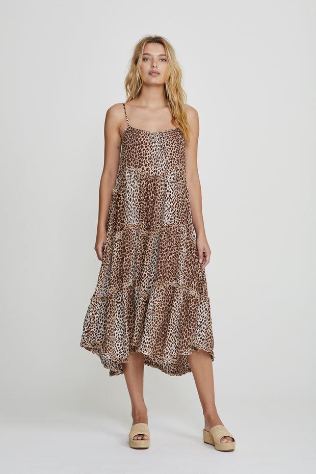 Nico Dunes Midi Dress Natural