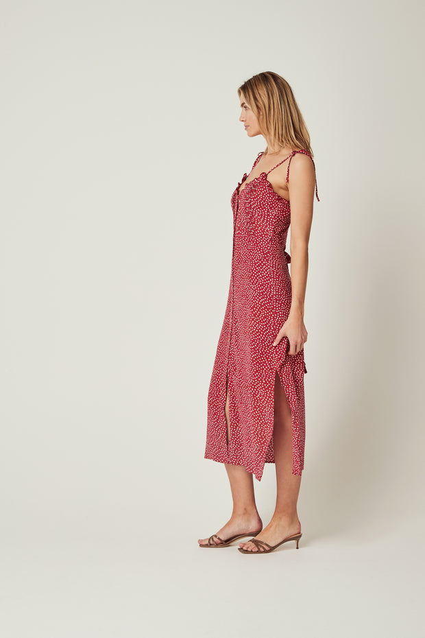 River Della Midi Dress Red