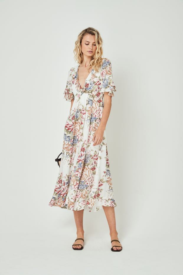 Sadie Goldie Maxi Dress Ivory