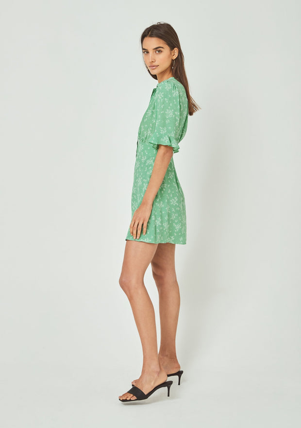 Maeve Mimi Mini Dress Vibrant Green