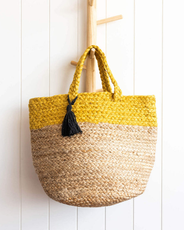 Bag - Aarushi Yellow - Jute - 30x45