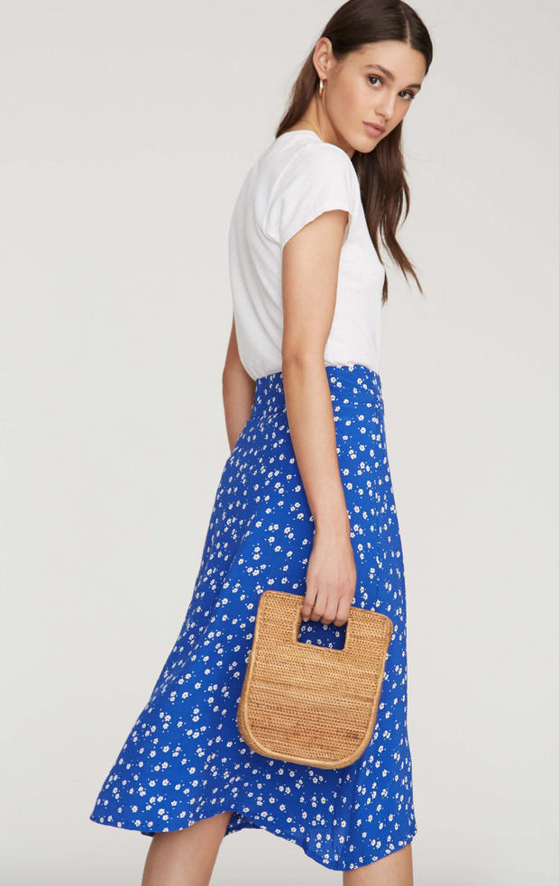 Valencia Wrap Skirt Bettina Cobalt Floral Print